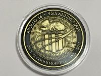 Apollo 16 Medallion 45 Years Anniversary Minted With Flown Command Module Parts